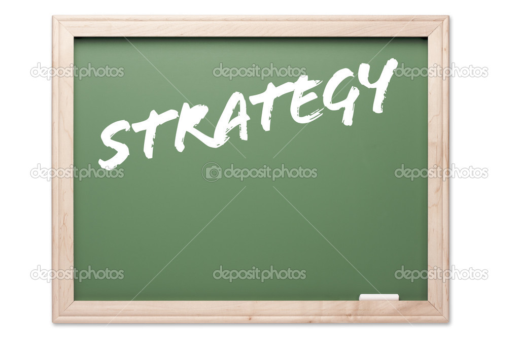 Chalkboard Series Isolated on a White Background - Strategy. — Stock Photo #2351788