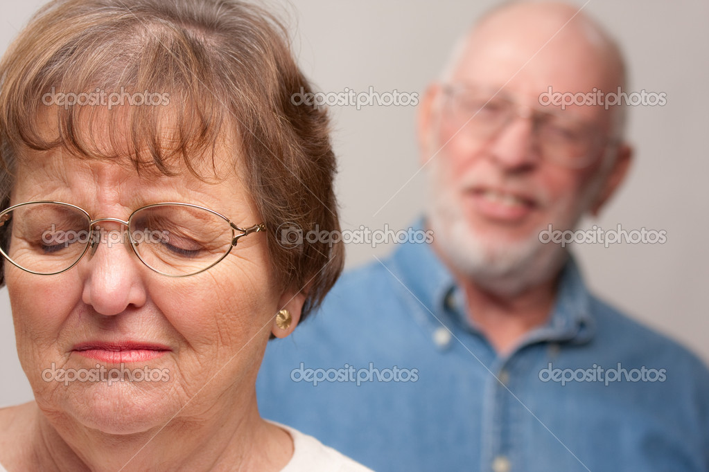 Angry Senior Couple in a Terrible Argument. — Stock Photo #2354895