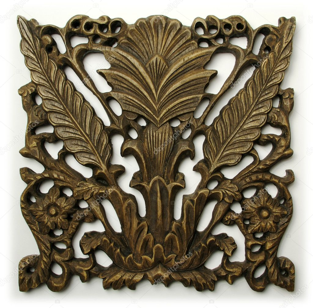 Ornate Wood Carving Ornament — Stock Photo © Feverpitch #2354912