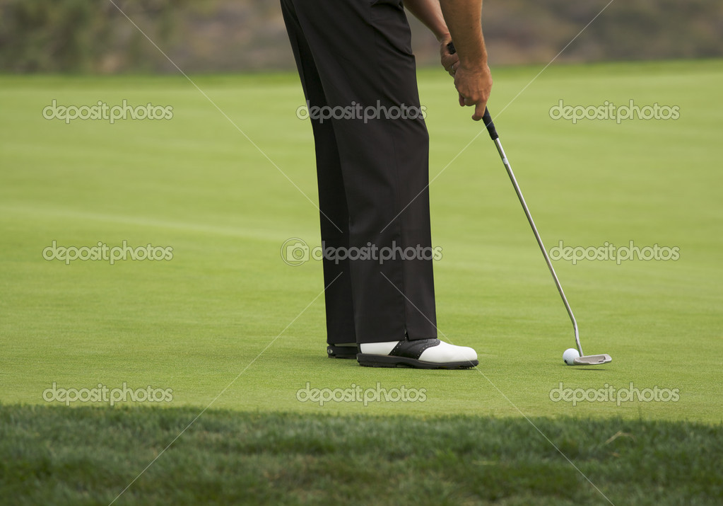 Golfer Putting on the Green one Summer Day. — Stock Photo #2356386