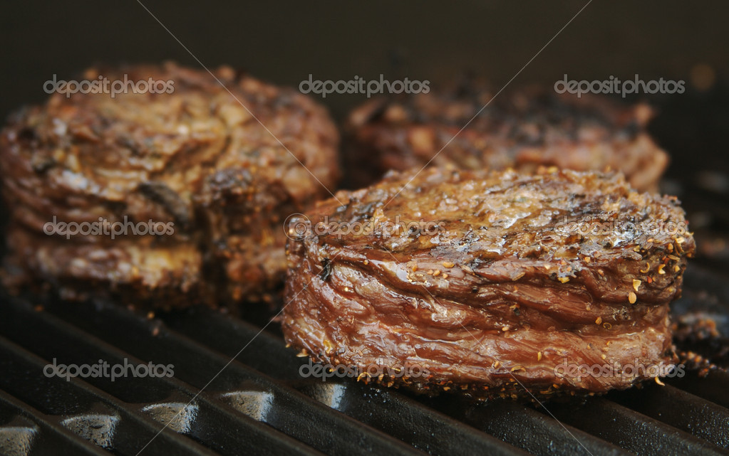 Succulent Wrapped Flank Steak on the BBQ — Foto Stock #2357909