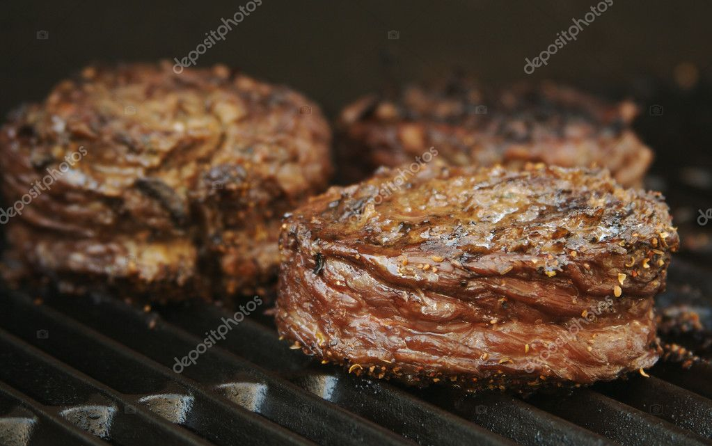 Succulent Wrapped Flank Steak on the BBQ  Foto de Stock   #2357909