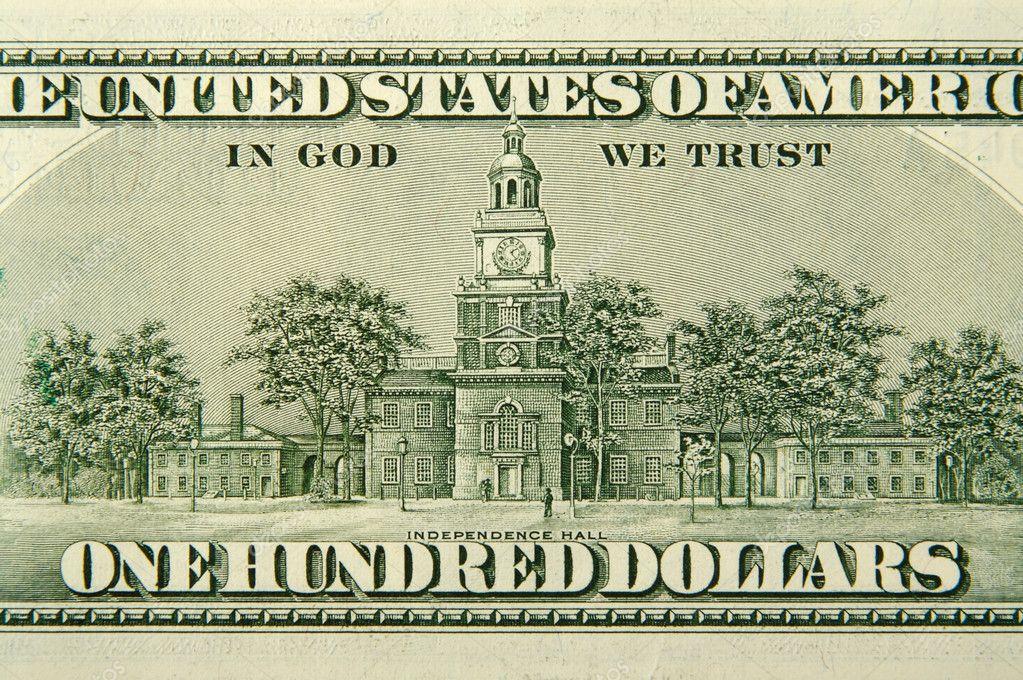 100 Dollar Bill Back  Birthday  Designer Strips  Edible