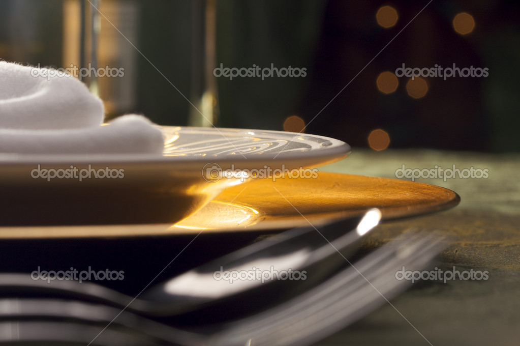 Elegant Dinner Setting Abstract Macro Background — Stock Photo #2359914