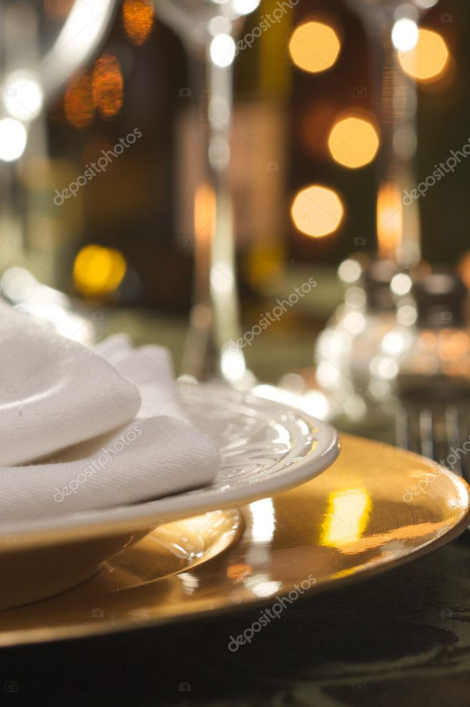 Elegant Dinner Setting Abstract Macro Background — Stock Photo #2359919