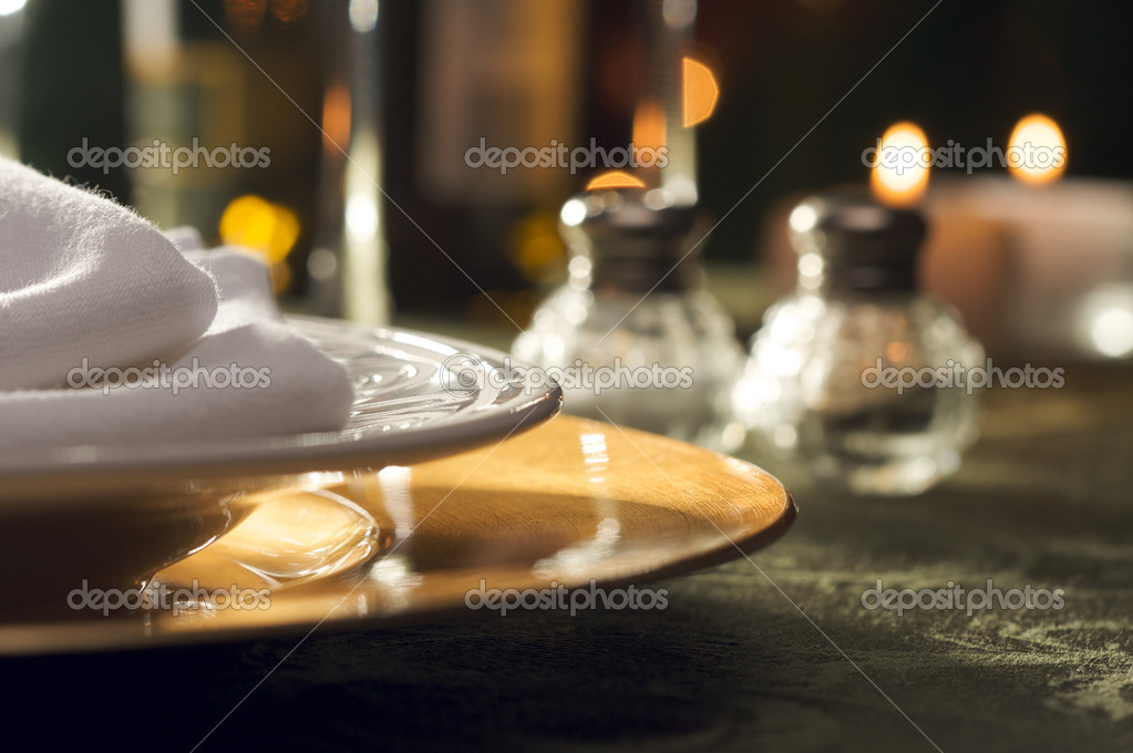 Elegant Dinner Setting Abstract Macro Background — Stock Photo #2359928