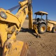 Stock Photo: Tractor at a Construction Site