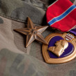 Bronze and Purple Heart Medals — Stock Photo