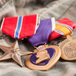 Purple Heart and Other Medals — Stock Photo
