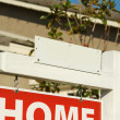 Blank Real Estate Sign and New Home — Stockfoto