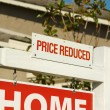 Stock Photo: Price Reduced Real Estate Sign