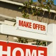 Stock Photo: Make Offer Real Estate Sign and Home