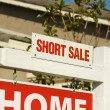 Stock Photo: Short Sale Real Estate Sign