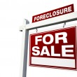 Foreclosure For Sale Sign on WHite — Stock Photo #2360934