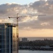 Silhouette of Crane and Building — Stock Photo #2360976