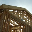 Royalty-Free Stock Photo: Construction Home Framing Abstract