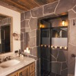 Stock Photo: Luxurious Rustic Bathroom