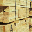 Stack of Construction Wood — Stock Photo
