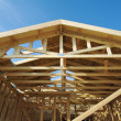 Construction Home Framing Abstract - Stock Photo