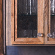 Luxurious Rustic Cabinet Doors Close Up — Stock Photo