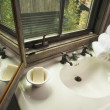 Stock Photo: Rustic Bathroom Sink and Window