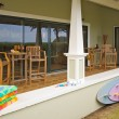 Stock Photo: Oceanfront Home Lanai