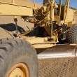 Stock Photo: Tractor at a Dirt Construction Site