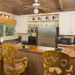 Tropical Kitchen Interior - Stock Photo