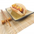 Stock Photo: Hot Dog and Chopsticks