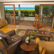 Stock Photo: Oceanfront Home Living-Room with View