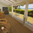 Stock Photo: Oceanfront House Lanai with Beautiful View