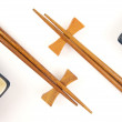 Abstract Chopsticks and Bowls — Stock Photo