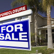 Royalty-Free Stock Photo: Foreclosure For Sale Real Estate Sign