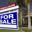 Stock Photo: Foreclosure For Sale Real Estate Sign