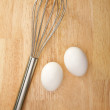 Mixer and Eggs — Stock Photo