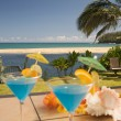 Tropical Drinks on the Lanai. — Stock Photo