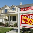 Sold Foreclosure Real Estate Sign — Stock Photo #2369239