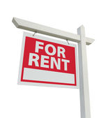 For Rent Real Estate Sign on White — Stock Photo