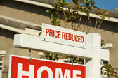 Price Reduced Real Estate Sign — Stock Photo