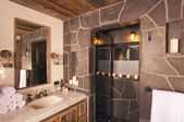 Luxurious Rustic Bathroom — Stock Photo