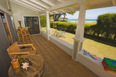 Oceanfront House Lanai with Beautiful View — Stock Photo