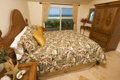 Beach-front Bedroom Interior — Stock Photo