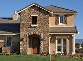 Modern Home Facade in Rural Setting — Stock Photo