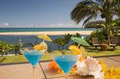 Tropical Drinks on the Lanai. — Stock Photo