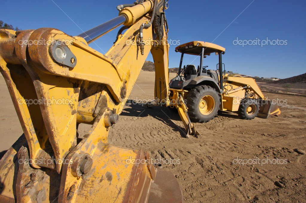Tractor at a Construction Site and dirt lot. — Stock Photo #2360579