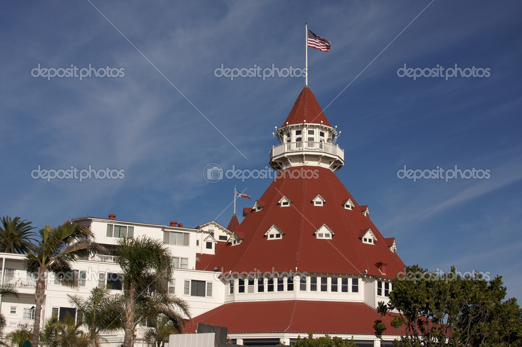 Beautiful Hotel Del Coronado in San Diego, California. — Stock Photo #2367365