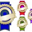 Set of Four Colorful Emblem Seals — Vettoriali Stock