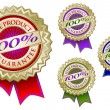 Royalty-Free Stock Vector Image: Colorful 100% Elite Product Emblems