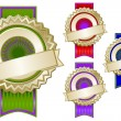 Royalty-Free Stock Vector Image: Set of Four Colorful Emblem Seals