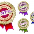 Colorful 100% Product Guarantee Emblems — Stock Vector